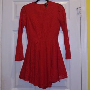 H&M Lace Red Dress